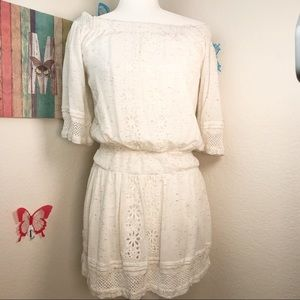 Tularose Eyelet Off the Shoulder Dress XS